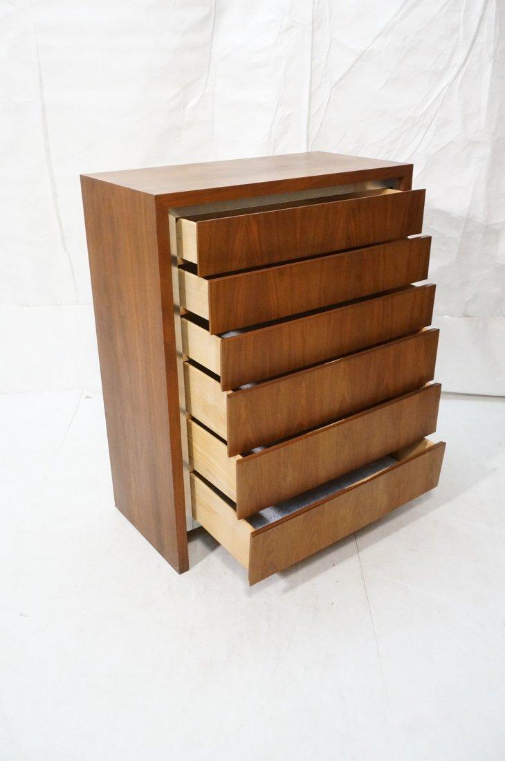DILLINGHAM Walnut Tall Chest Of Modernist Drawers - 2