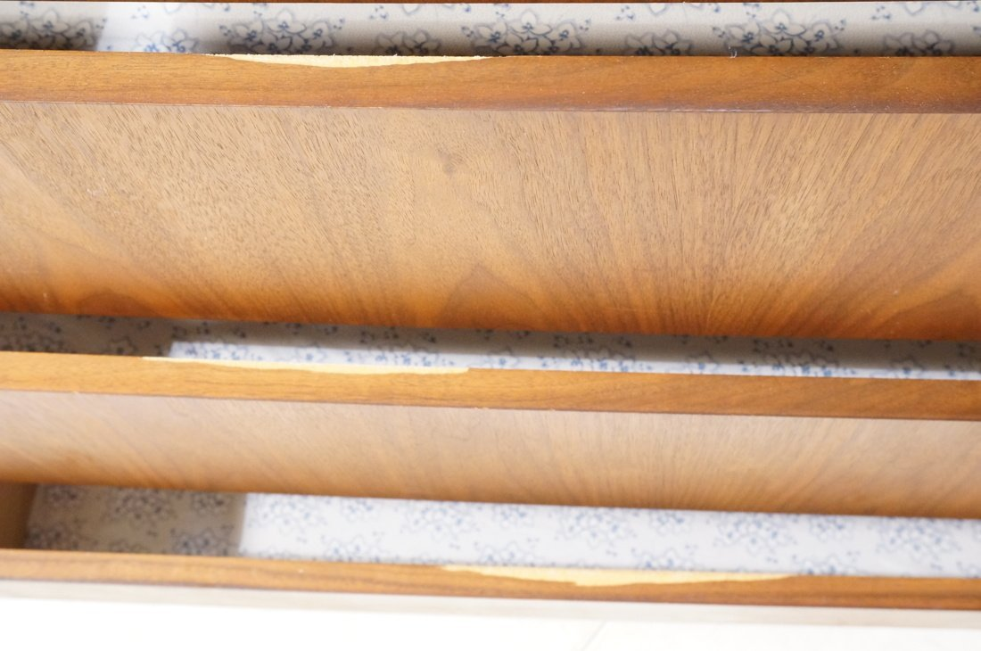 DILLINGHAM Walnut Tall Chest Of Modernist Drawers - 4