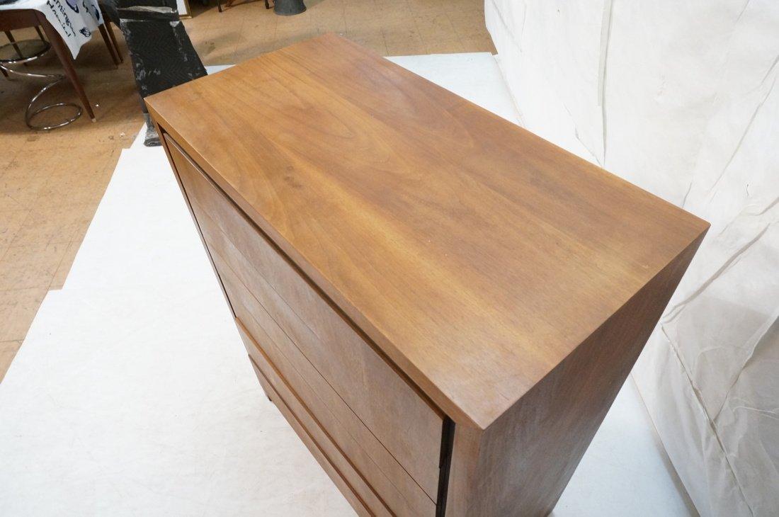 DILLINGHAM Walnut Tall Chest Of Modernist Drawers - 6