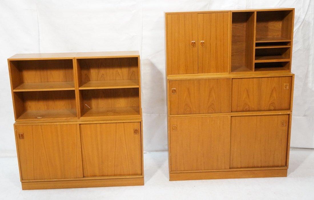 Lot 7 Danish Teak Modern Cabinets. Some with slid