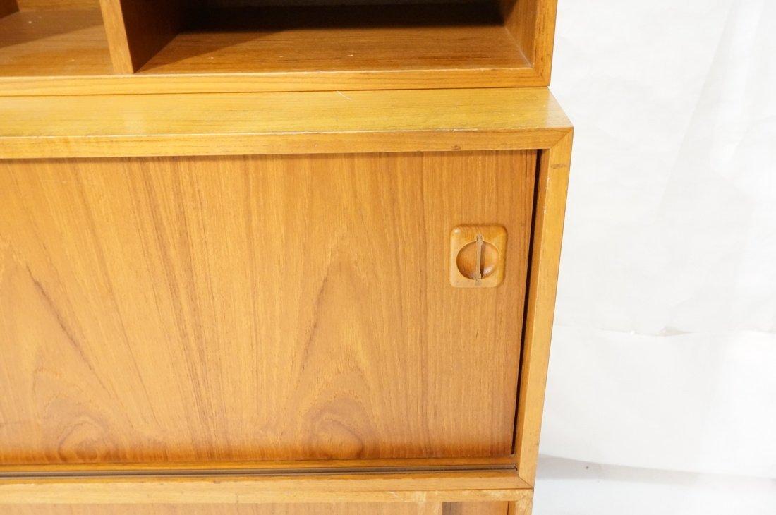 Lot 7 Danish Teak Modern Cabinets. Some with slid - 3