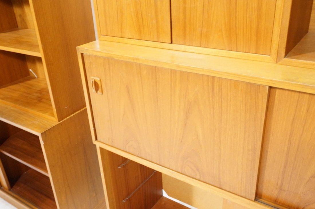 Lot 7 Danish Teak Modern Cabinets. Some with slid - 4