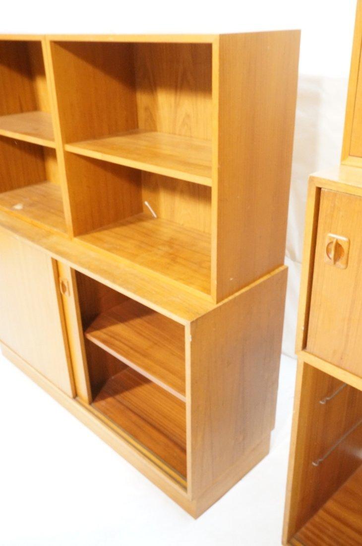 Lot 7 Danish Teak Modern Cabinets. Some with slid - 5