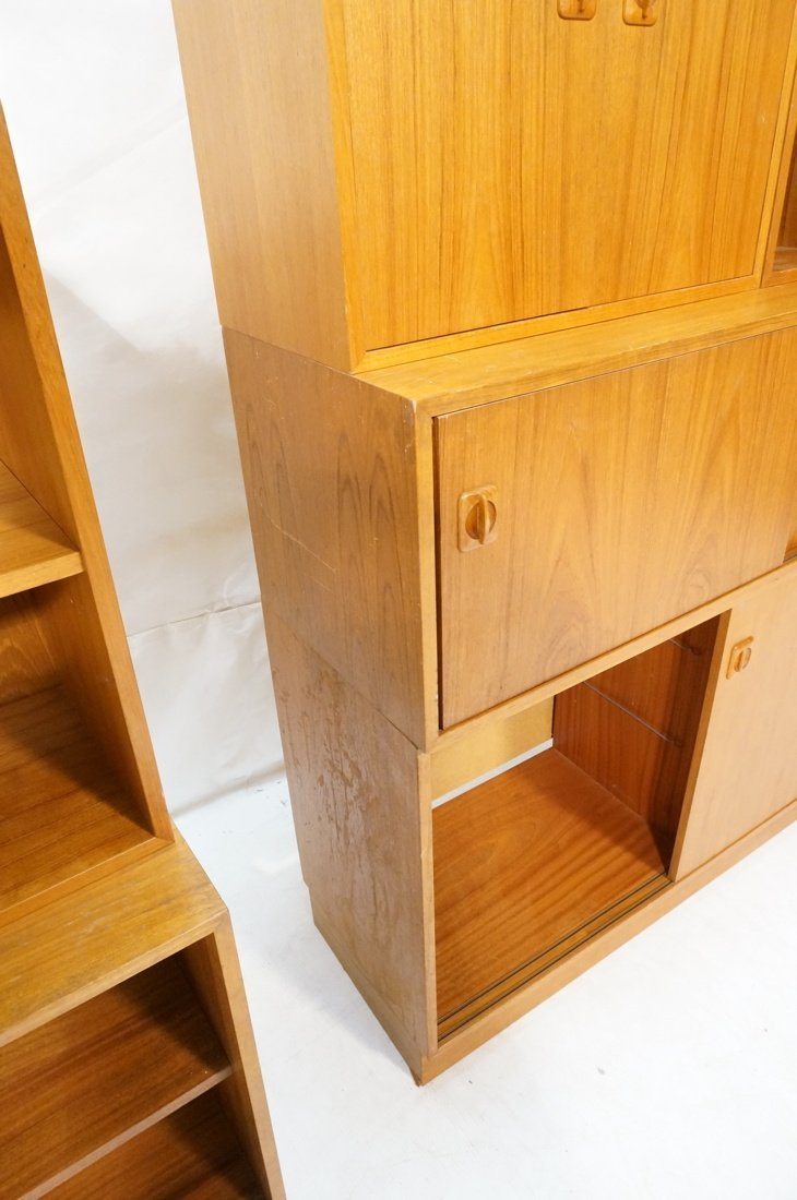 Lot 7 Danish Teak Modern Cabinets. Some with slid - 7