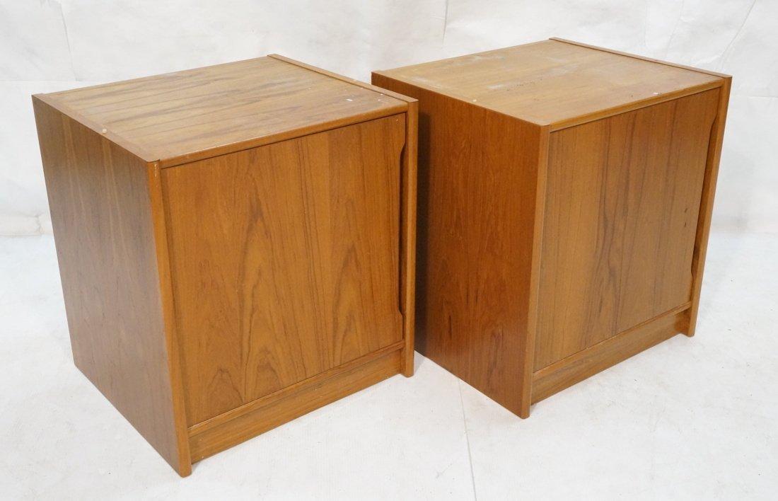 Two Teak Danish Modern Cabinets. Single doors.