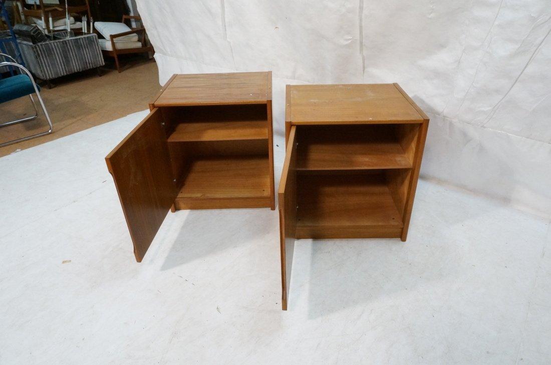Two Teak Danish Modern Cabinets. Single doors. - 2