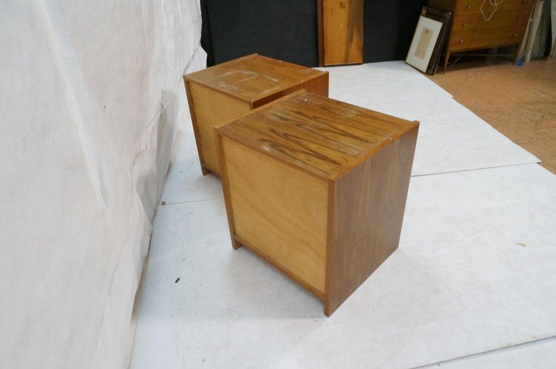 Two Teak Danish Modern Cabinets. Single doors. - 5