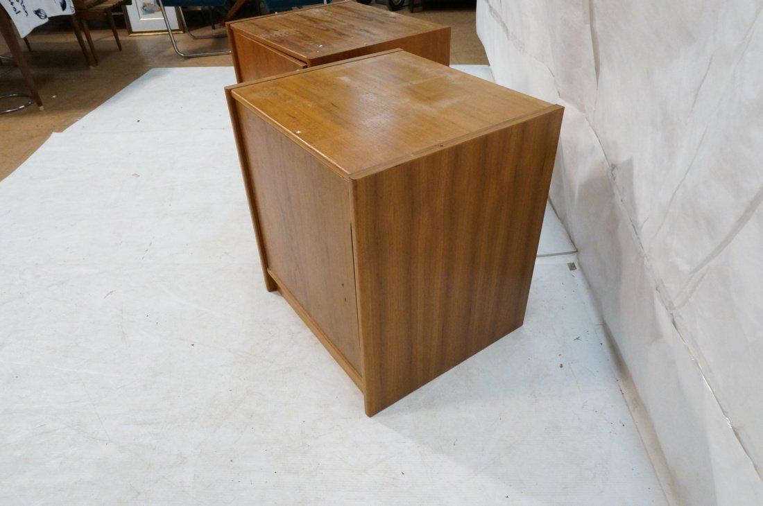 Two Teak Danish Modern Cabinets. Single doors. - 8
