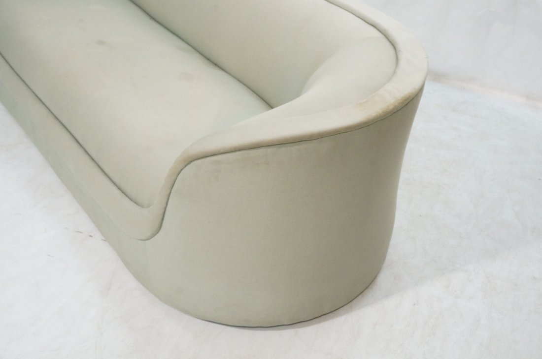 Bowed Arm Modernist Sofa Couch. Completely covere - 2