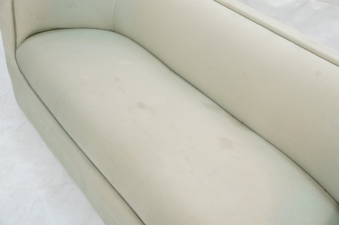 Bowed Arm Modernist Sofa Couch. Completely covere - 3