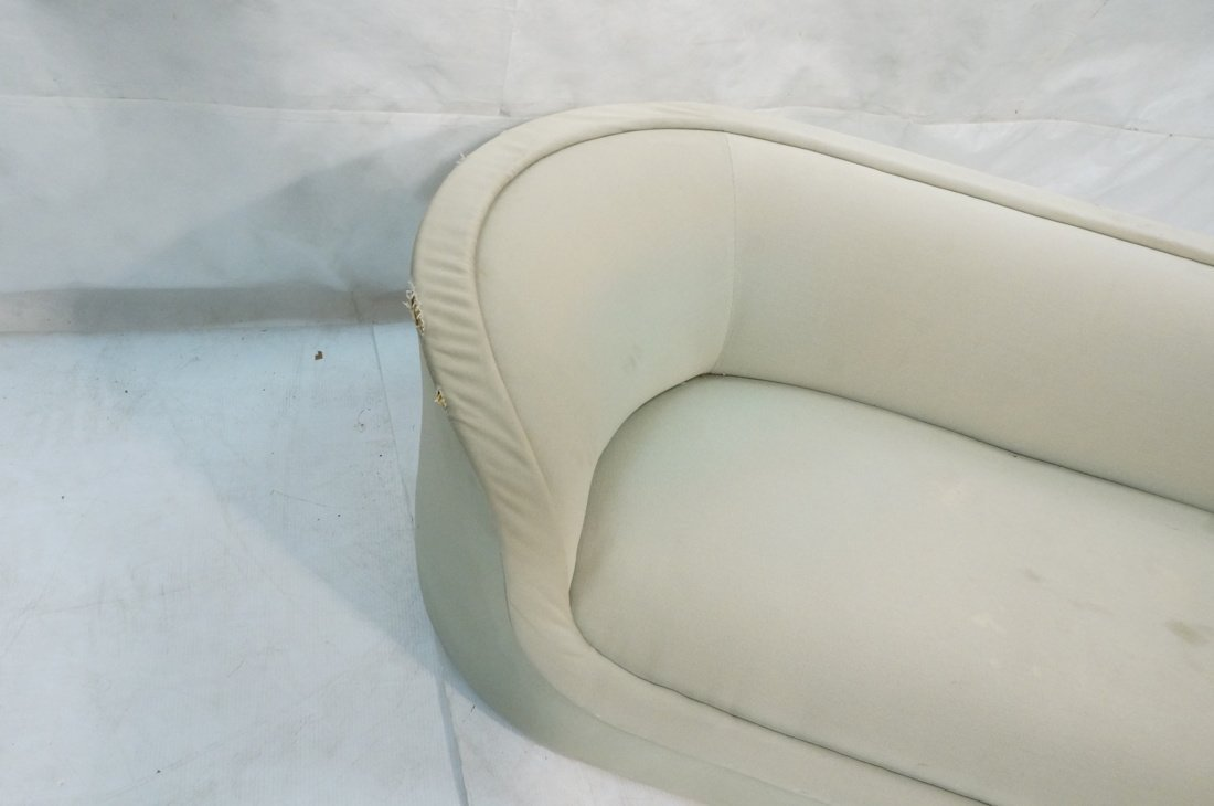 Bowed Arm Modernist Sofa Couch. Completely covere - 4