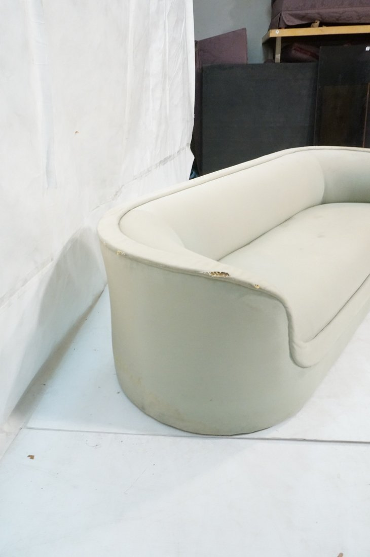Bowed Arm Modernist Sofa Couch. Completely covere - 5