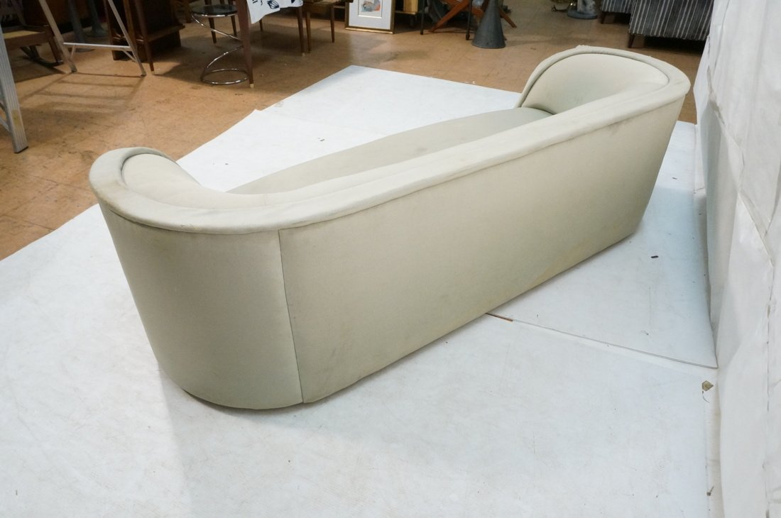 Bowed Arm Modernist Sofa Couch. Completely covere - 7
