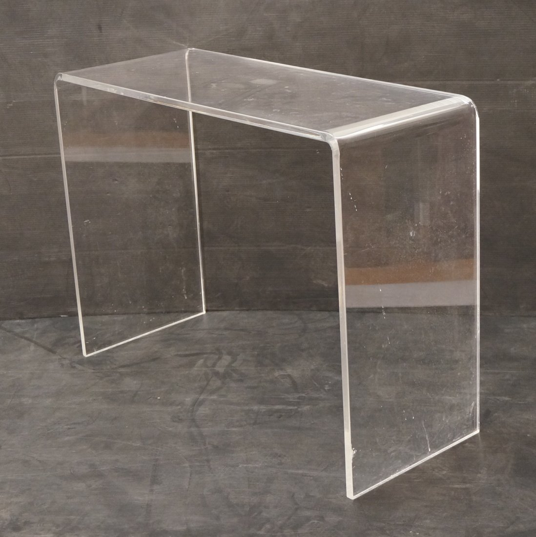 Molded Lucite Hall Table