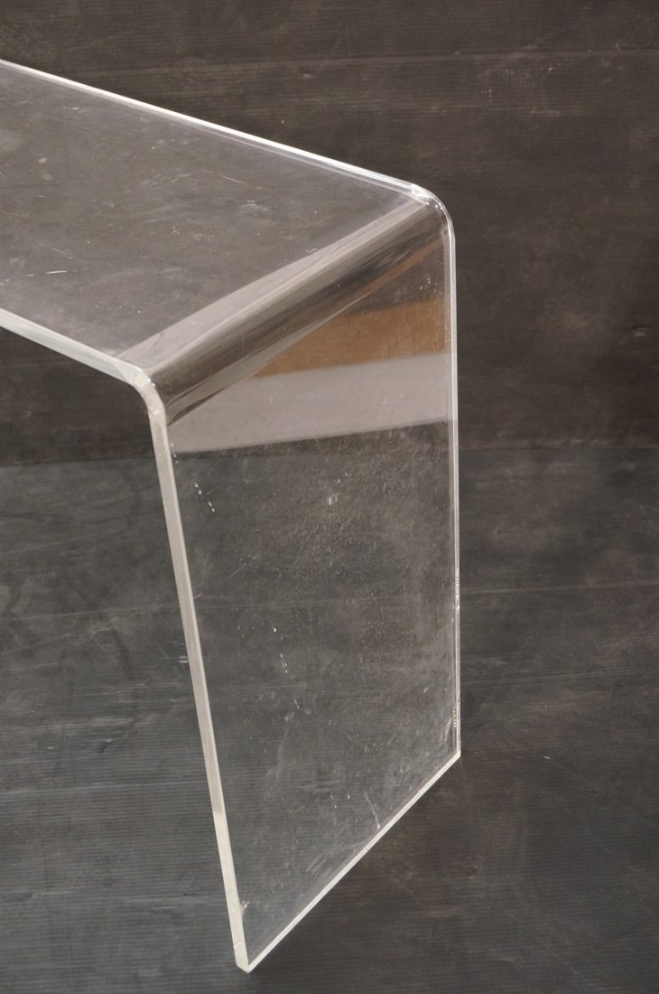 Molded Lucite Hall Table - 2