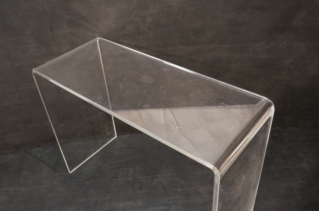 Molded Lucite Hall Table - 4
