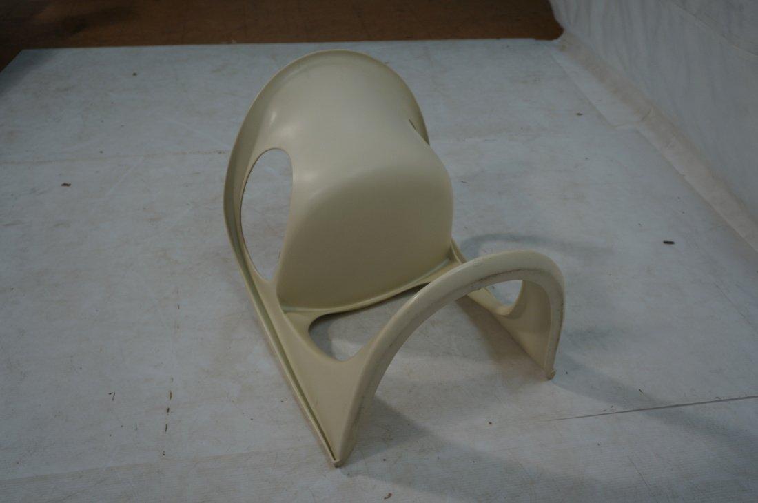 Pr VERNER PANTON Molded Plastic Side Chairs. Arm - 9