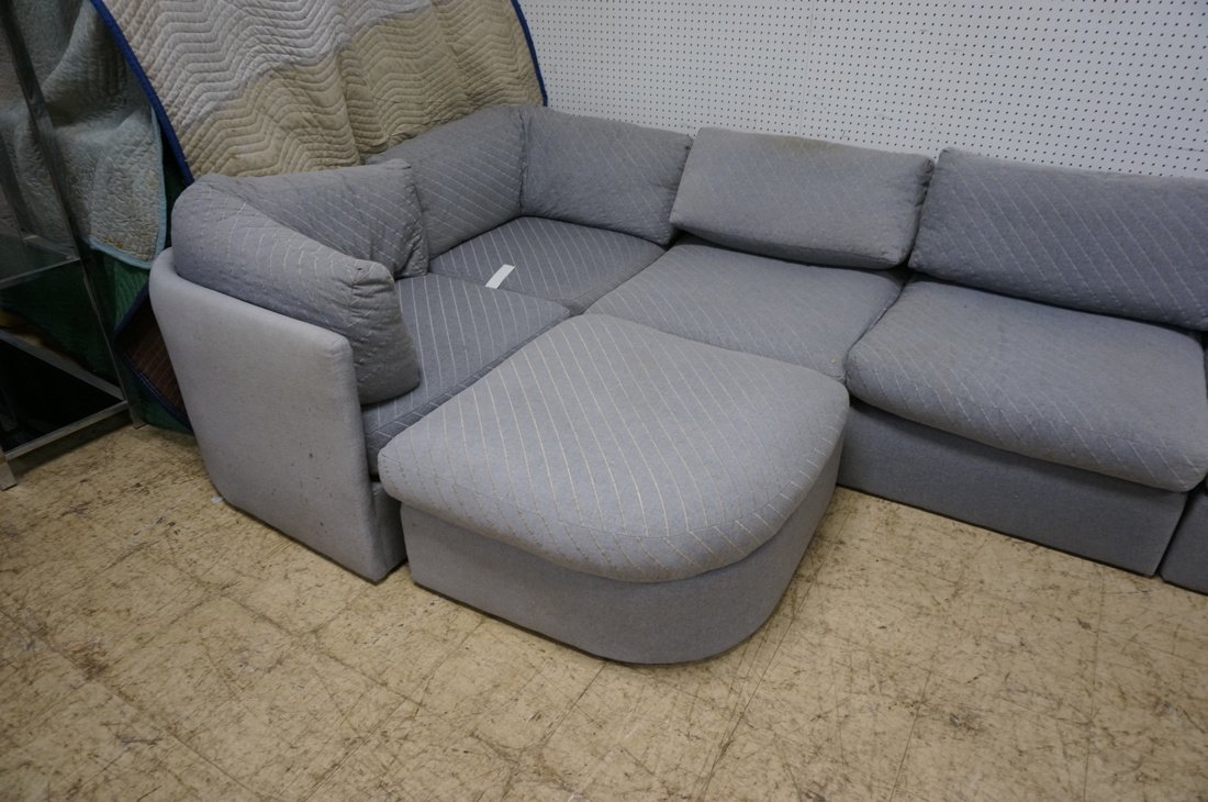 Gray Fabric Sectional Seating. THAYER COGGIN by M - 10