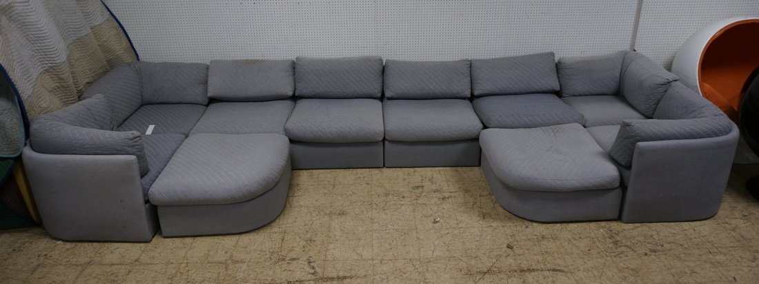 Gray Fabric Sectional Seating. THAYER COGGIN by M