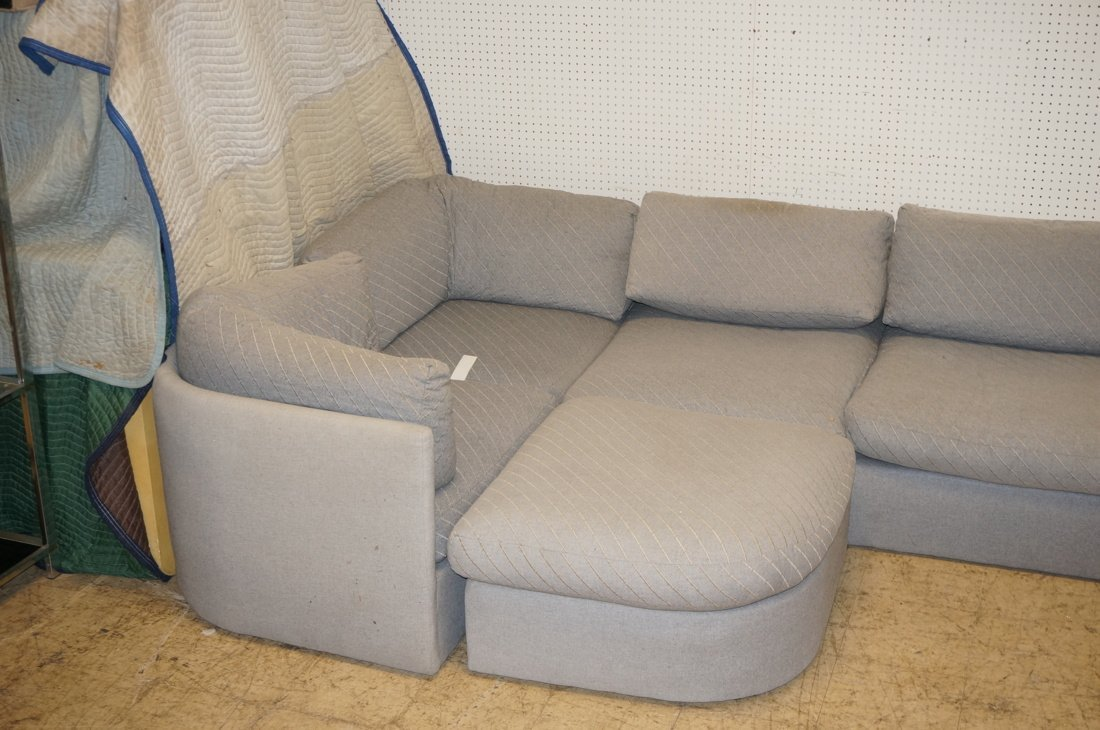Gray Fabric Sectional Seating. THAYER COGGIN by M - 2