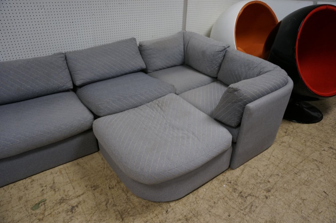 Gray Fabric Sectional Seating. THAYER COGGIN by M - 5