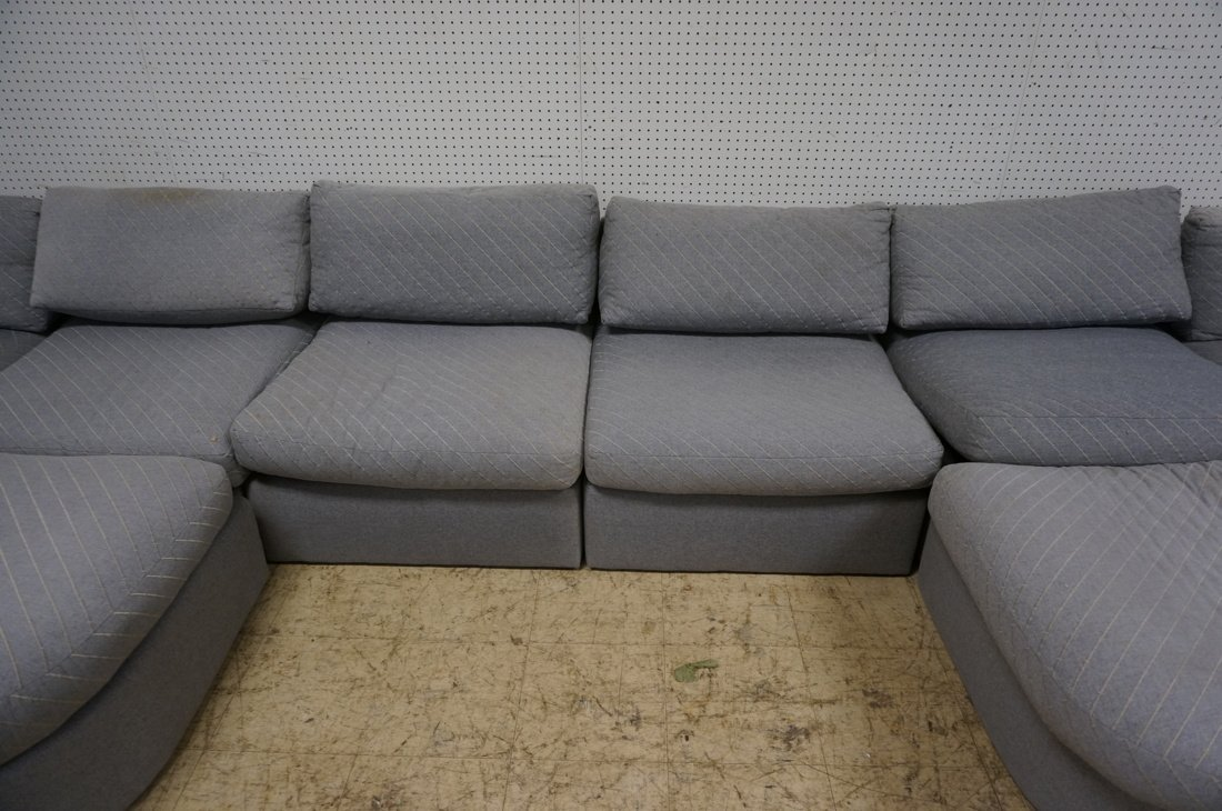 Gray Fabric Sectional Seating. THAYER COGGIN by M - 6