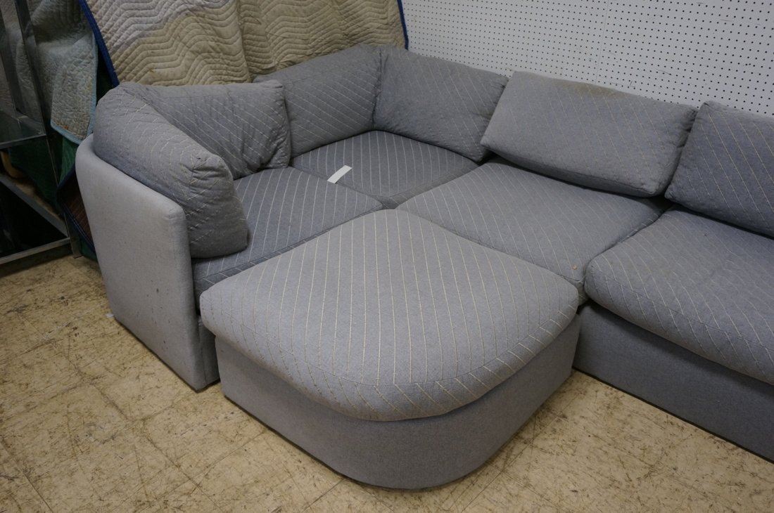 Gray Fabric Sectional Seating. THAYER COGGIN by M - 7