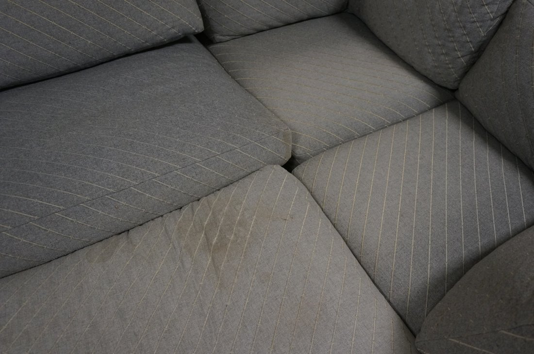 Gray Fabric Sectional Seating. THAYER COGGIN by M - 8