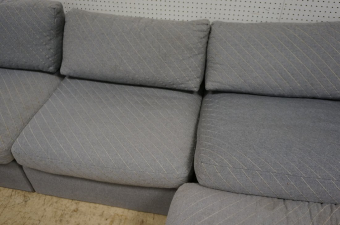 Gray Fabric Sectional Seating. THAYER COGGIN by M - 9