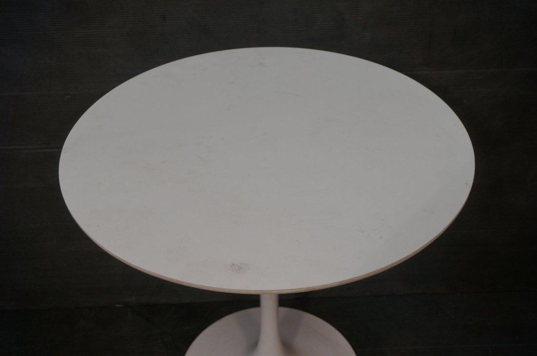 SAARINEN style Tulip Table. Round white laminate - 2