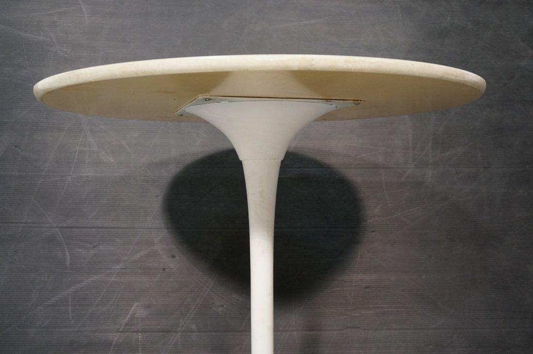 SAARINEN style Tulip Table. Round white laminate - 4