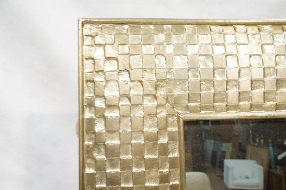 Pr Large Decorator Framed Wall Mirrors. Gilt wove - 2