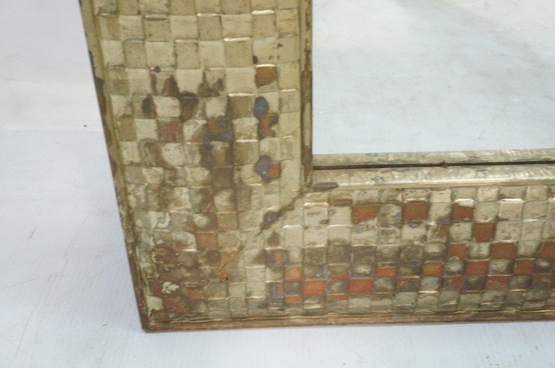 Pr Large Decorator Framed Wall Mirrors. Gilt wove - 5