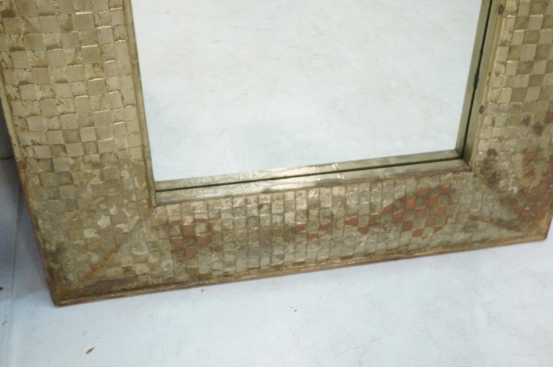 Pr Large Decorator Framed Wall Mirrors. Gilt wove - 6