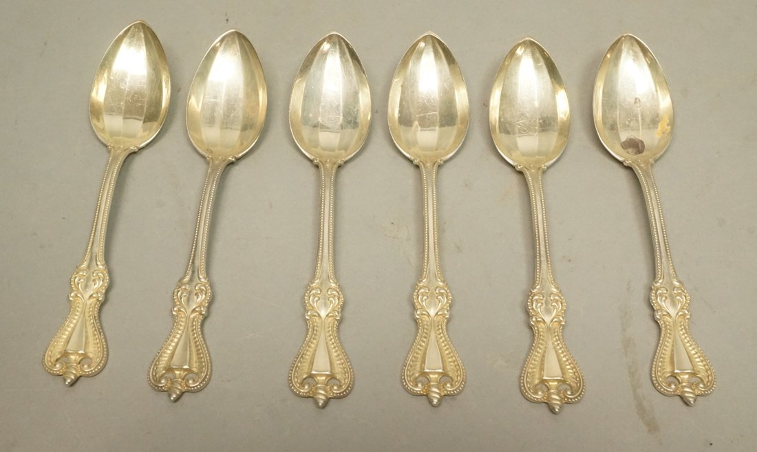"""Set 6 TOWLE Sterling Silver Tea Spoons. """"Old Colo"""
