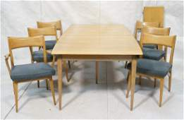 HEYWOOD WAKEFIELD Dining Set. Dining Table & 6 Ch