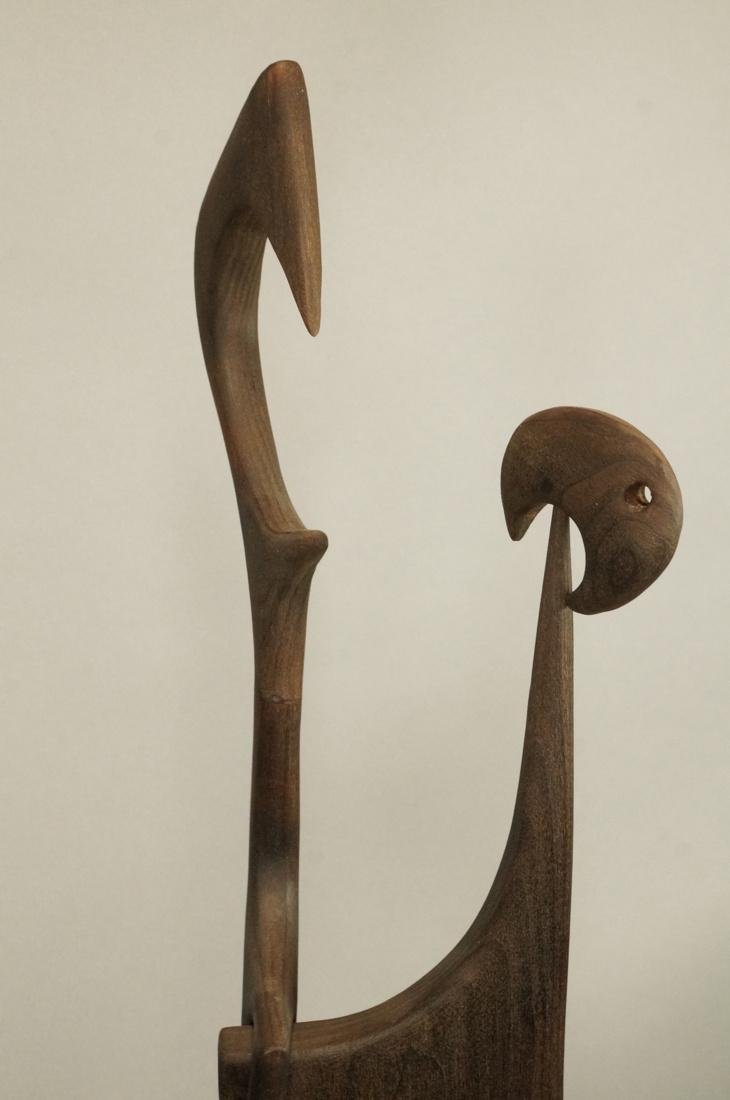 Carved Wood Sculpture. LEO AMINO Style. Carved wo - 3