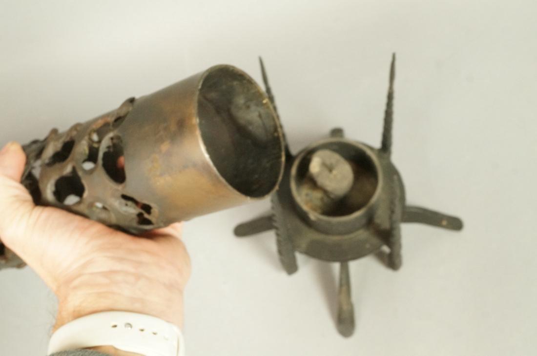 DAVID PALUMBO Brutalist Candle Holder. Tall colum - 4