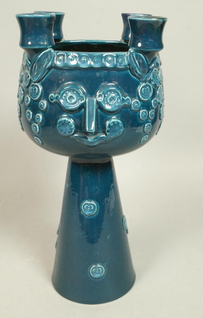 BJORN WIINBLAD for ROSENTHAL Blue Glazed Face Com