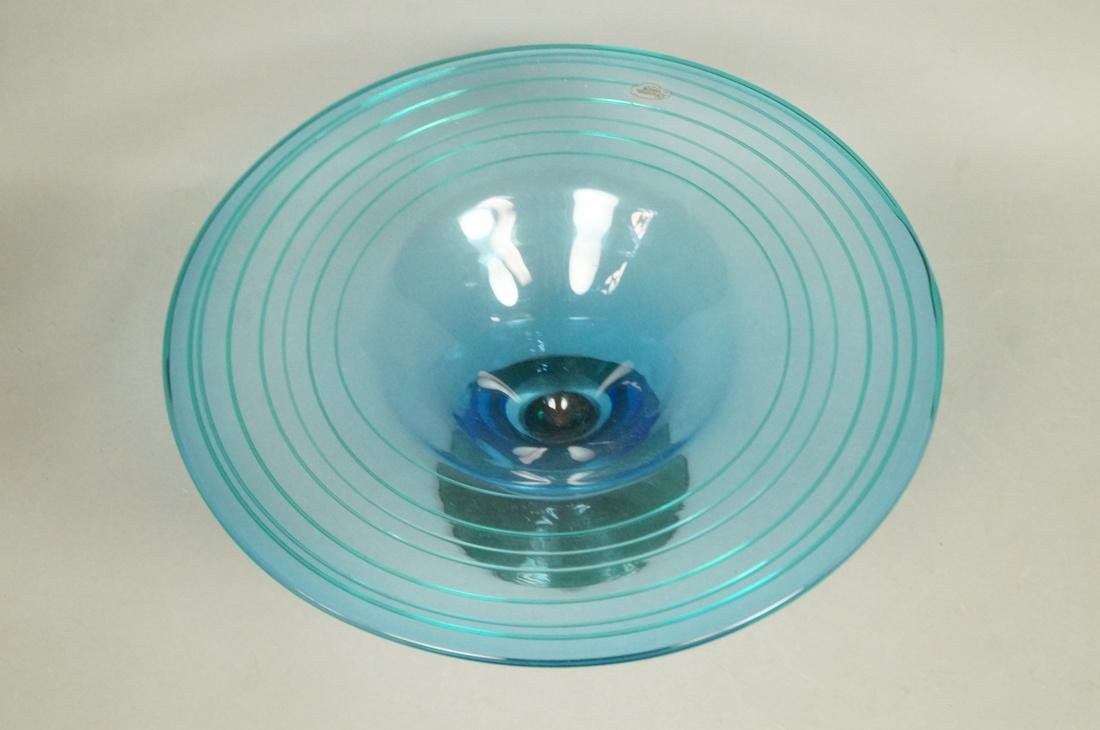 BLENKO American Art Glass Compote Bowl. Footed co - 2