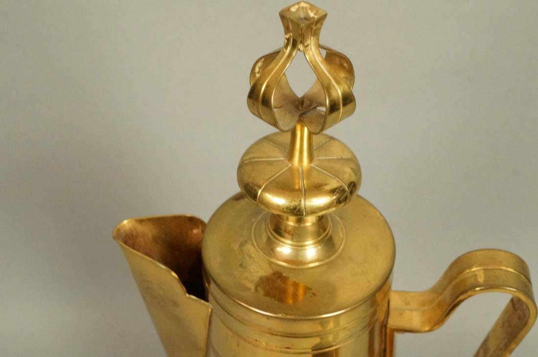 4 Pc TOMMI PARZINGER Brass Coffee Pot with Creame - 2