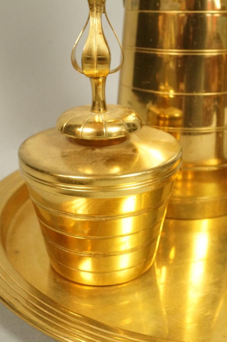 4 Pc TOMMI PARZINGER Brass Coffee Pot with Creame - 5