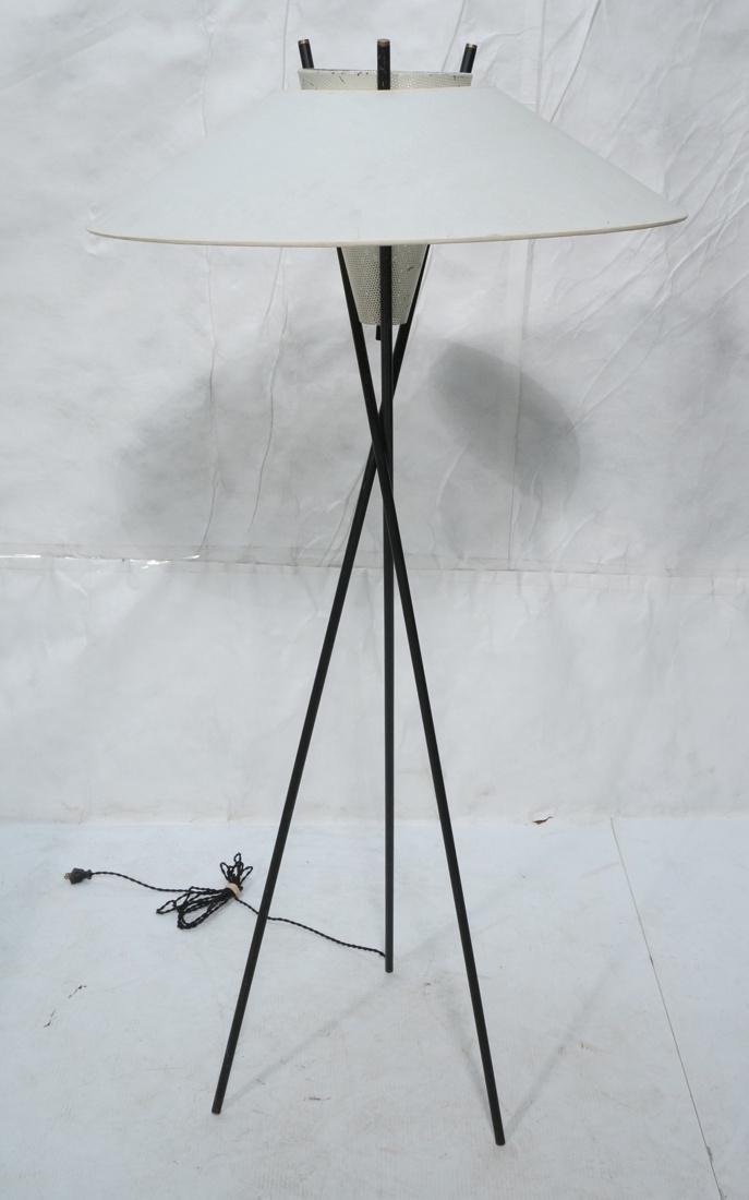 GERALD THURSTON Style Tripod Floor Lamp. Black me