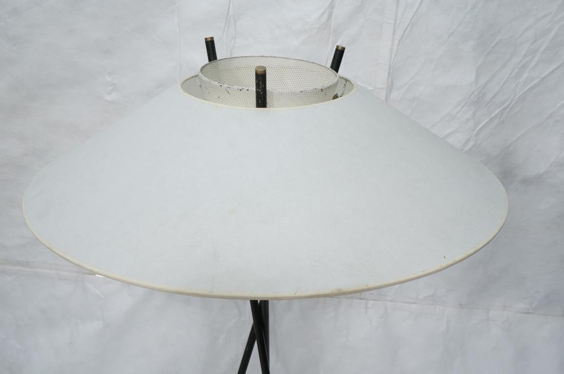 GERALD THURSTON Style Tripod Floor Lamp. Black me - 2