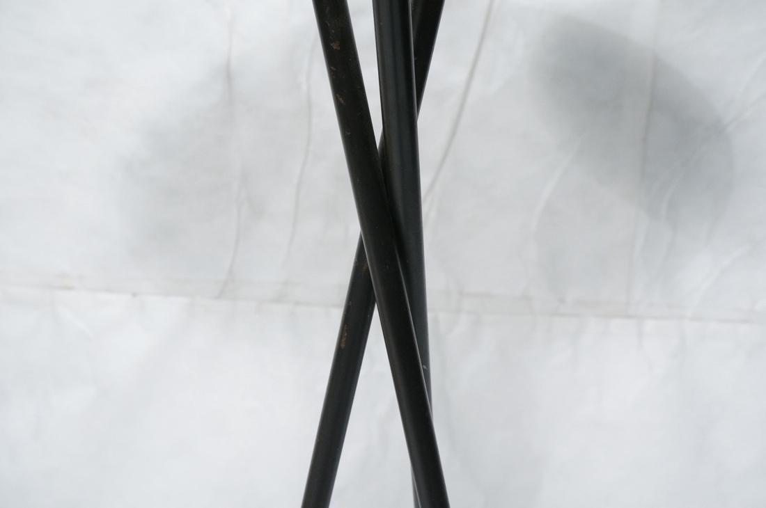 GERALD THURSTON Style Tripod Floor Lamp. Black me - 3
