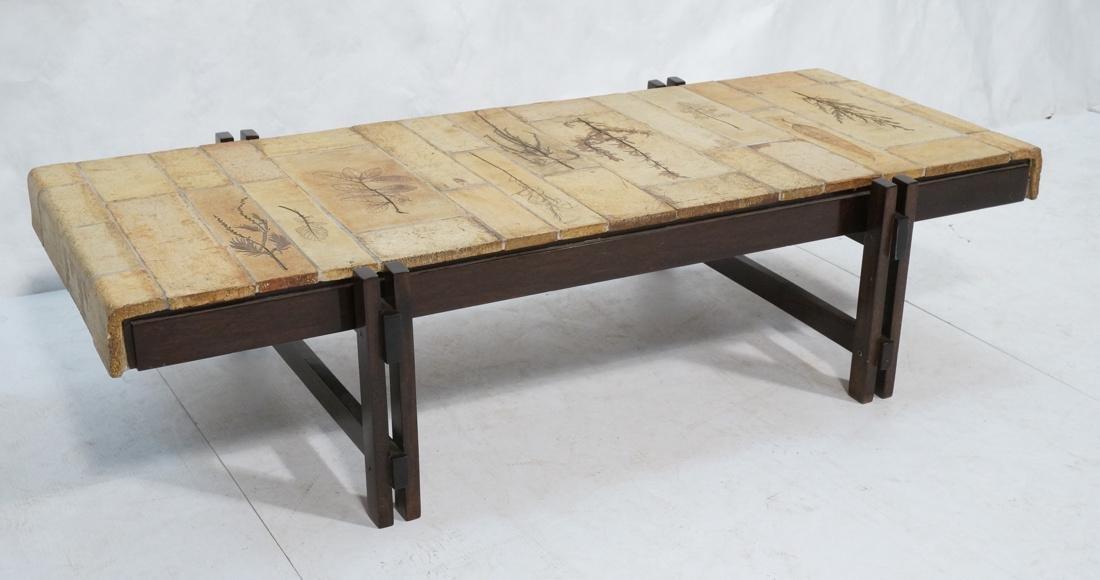 ROGER CAPRON Ceramic Tile Coffee Table. Unglazed