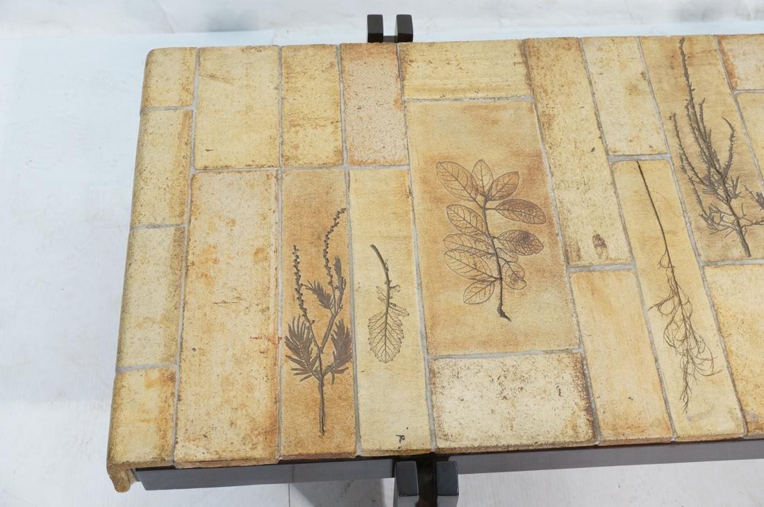 ROGER CAPRON Ceramic Tile Coffee Table. Unglazed - 2