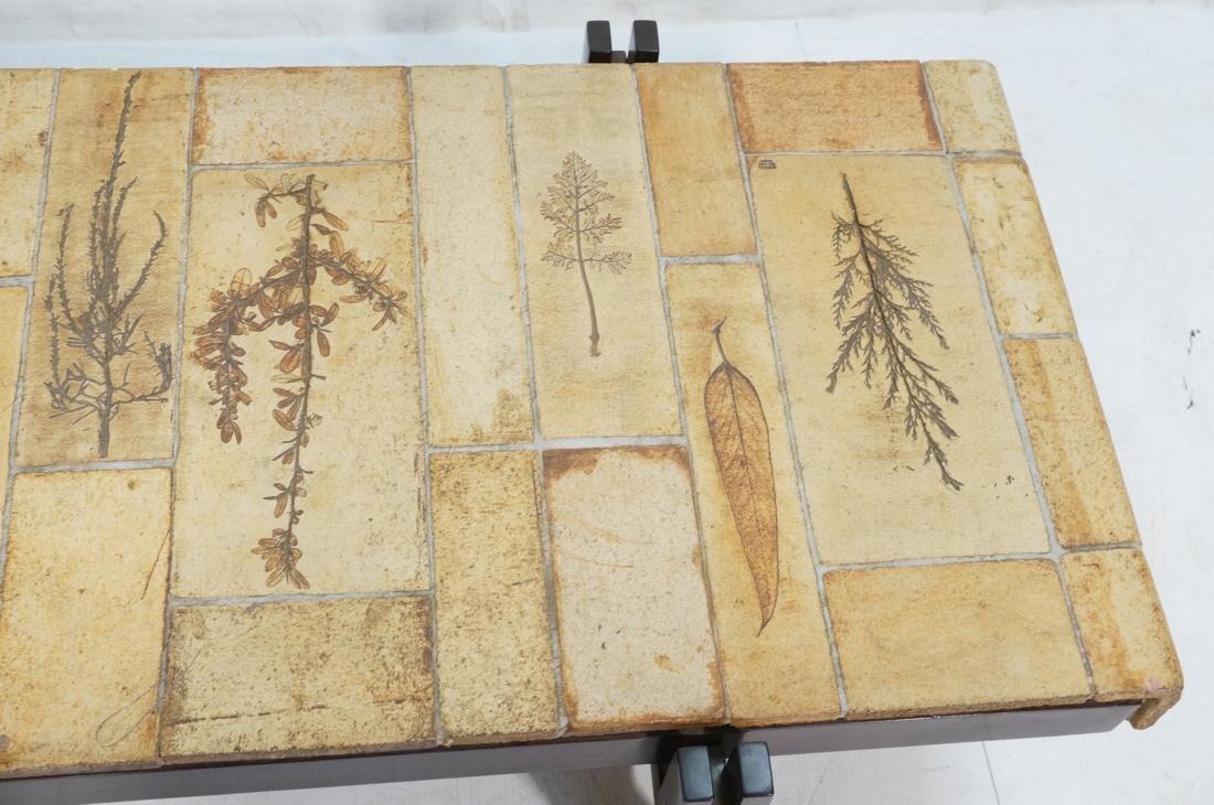 ROGER CAPRON Ceramic Tile Coffee Table. Unglazed - 3