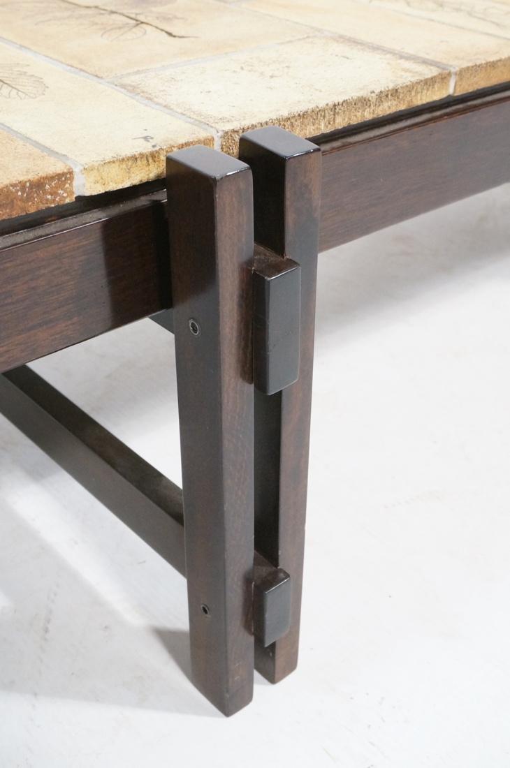 ROGER CAPRON Ceramic Tile Coffee Table. Unglazed - 5