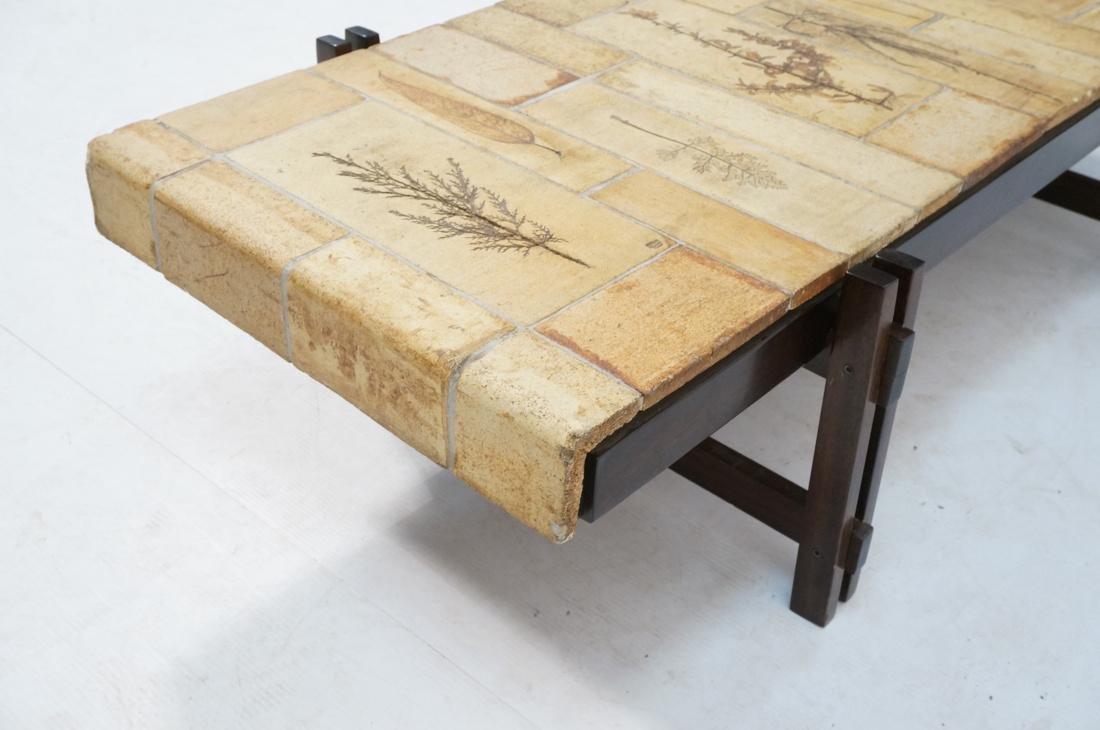 ROGER CAPRON Ceramic Tile Coffee Table. Unglazed - 6